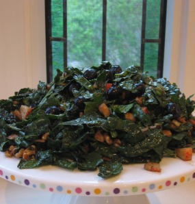 anti cancer kale blueberry salad