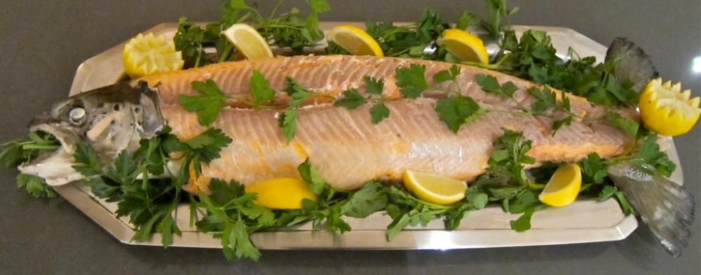 salmon spread with bones